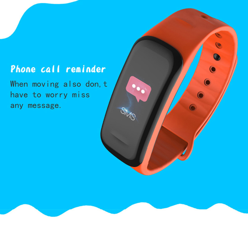 C1Plus Smart Band Blood Pressure Fitness Tracker Heart Rate Monitor Smart Bracelet Black Men Watch for Sport Climbing in Smart Wristbands from Consumer Electronics