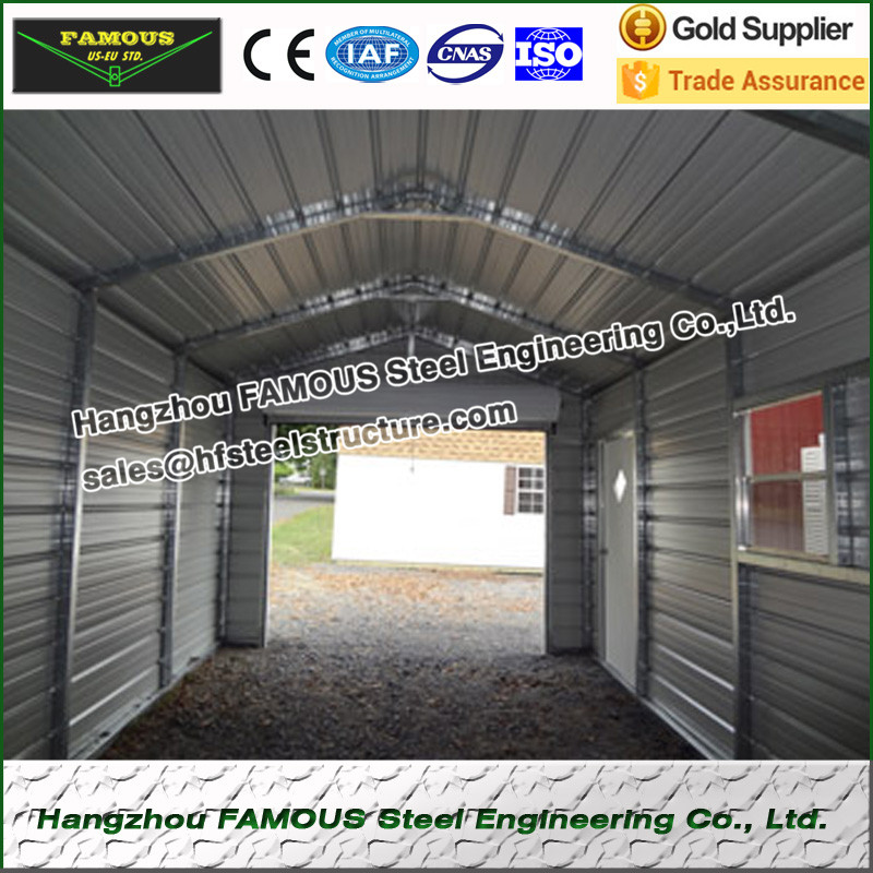 20ft * 21ft * 6ft prefabricate stahlkonstruktion garage für carport ...