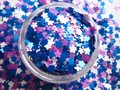 G448 Mix 3 MM Matte Color Solvent Resistant Glitter FLOWER shape for Nail Polish Acrylic, DIY supplies