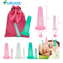 2pcs-1M-1S Massage Cupping Health Care Vaccum Facial Silicone cupping & Relaxation Neck Face Eye vacuum On Sale