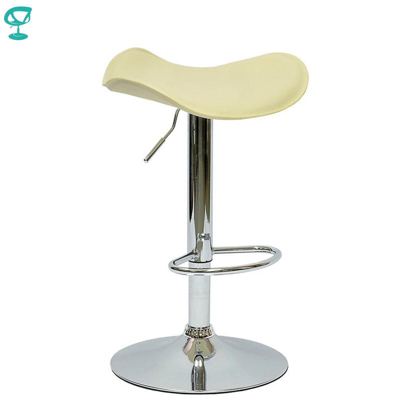 94906 Barneo N-15 Leather Kitchen Breakfast Bar Stool Swivel Bar Chair Beige Color Free Shipping In Russia