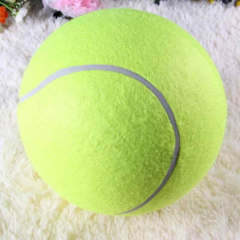 บอลเทนนิส 24 CM ยักษ์สำหรับสุนัข Chew Toy บอลเทนนิสพองใหญ่สัตว์เลี้ยงสุนัขของเล่นแบบโต้ตอบสัตว์เลี้ยงกลางแจ้งคริกเก็ตของเล่นสุนัข