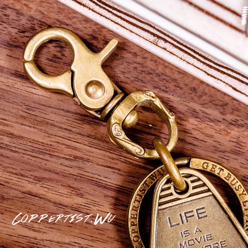 coppertist.wu Bronze pattern CARABINER Lobster Clasps Swivel Claw Hook Keyring Key Chain Keychain Pendant цены онлайн