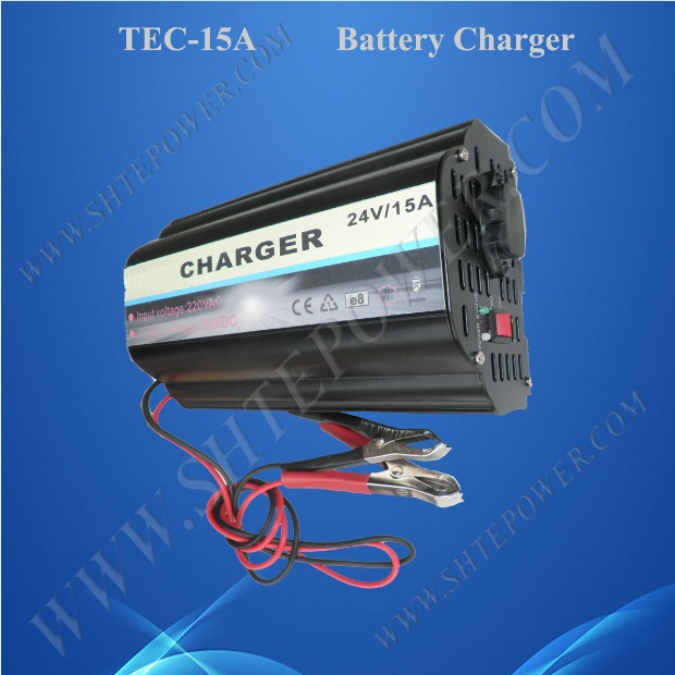 Lead Acid and Gel 24V 15A Float Car Charger For AC 220V 230V 240V