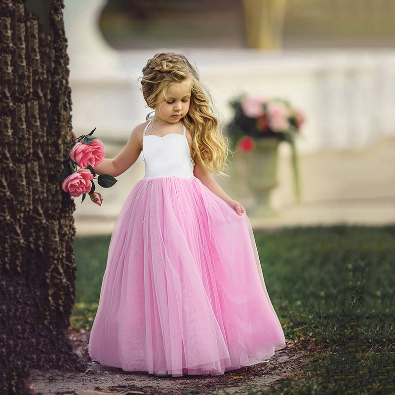 Girls Dresses for Party and Wedding 1 6Y Halter Summer Dress ... b47839fe3b9d
