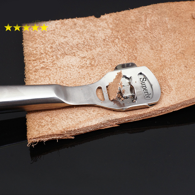 High Quality Perfect Leather Craft Thinning Tool Convenient and Useful Shovel Leather Knife Silvery