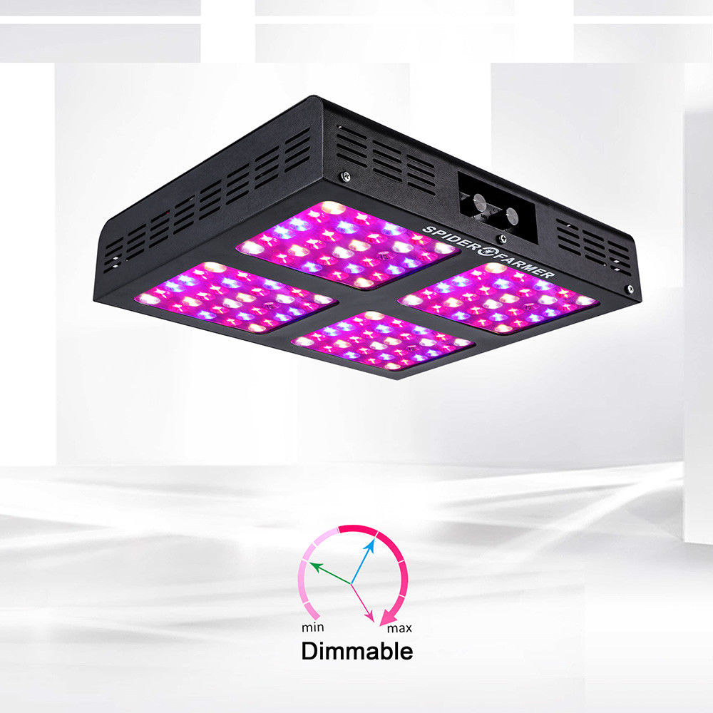 Spider Farmer Dimmable LED 600W Grow Light best Full Spectrum for indoor greenhouse and indoor garden hydroponic spider farmer dimmable led 300w grow light full spectrum hydroponic systems for seeds indoor plants in agricultur greenhouse