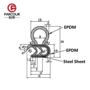 Image 5 - Alta qualidade 1m epdm e isolamento de ruído de aço de vedação de borracha tira placa de aço auto acessório abrigo do ruído do vento