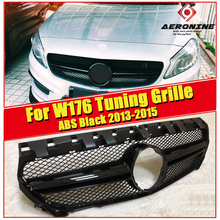 W176 A Class A45 look grille grill ABS Black sports A160 A180 200 220 250 grills Without Sign For Pre-facelift models to 09/2015