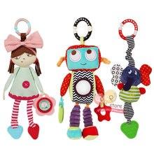 N-Tsi bebek peluş doldurulmuş Robot bebek arabası oyuncak fil çıngırak bebek yatağı beşik asılı cep oyuncaklar çocuklar için çocuklar hediye
