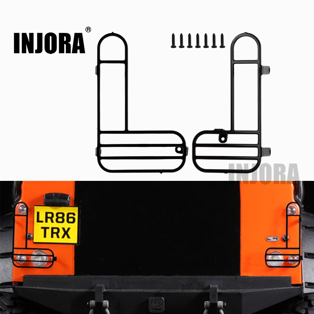 INJORA 2PCS TRX-4 Metal Taillight Cover For 1/10 RC Crawler TRAXXAS TRX4 Shell Body Parts
