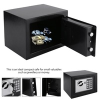 4.6L Solid Steel Electronic Safe Box With Digital Keypad Lock Strongbox Mini Lockable Money Cash Jewelry Storage Box Steel Safe