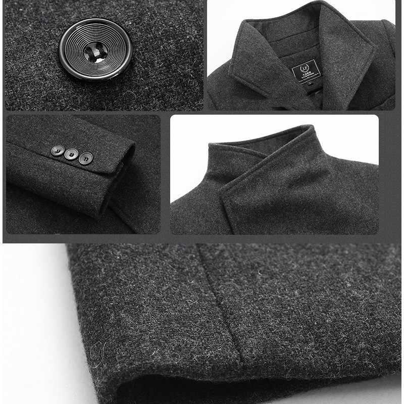 2018 Jaket Männer Stil Winter männer Casual Mäntel Business Verdicken Trenchcoat Woolen Jacken, einreiher Strickjacke