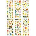 60 Folhas/lote Pokemon Pikachu Dos Desenhos Animados Adesivos 6 Estilos 3D Inchado Adesivos Anime Brinquedos Presente para As Crianças Meninas e meninos