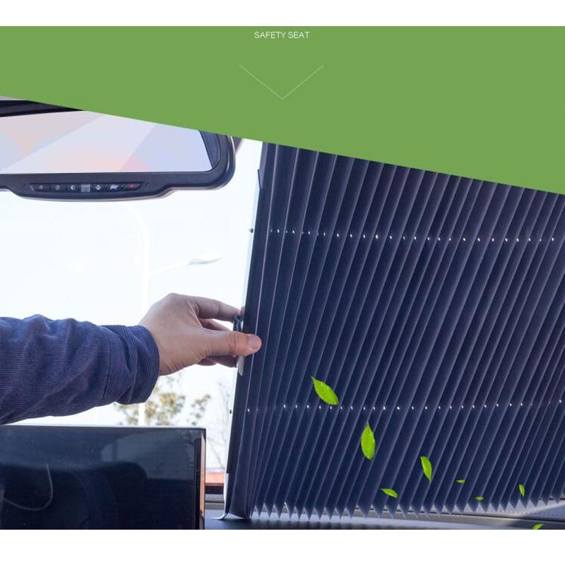 Image 2 - sunshade automatic car sun shade SUV car sun shade Car Front Windshield Sunshade Rear Window Sun Visor UV Protection 65CM/70CM-in Windshield Sunshades from Automobiles & Motorcycles