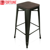 Ship In USA New Bar Chair Simple Metal Counter High Stool Modern Dining Chair Furniture Bar Stools For Home Wholesale Bar Chairs