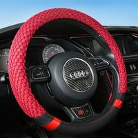 Fashion Rhinestone Steering Wheel Cover Furry Steerings Wheel Covers 38cm Car Handle Accessories Cover