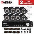 Tmezon 2.0mp 8ch ahd 1080 p cctv sistema de segurança 8 pcs dia noite impermeável do IR Da Câmera de Segurança Sistemas De Alarme Casa Diy Kit de 1 TB 2 TB