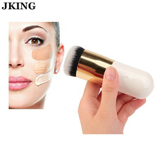 Round Makeup Brush BB Cream Concealer Foundation Powder Brushes Synthetic Fifber Face Cosmetic Blush Brush Make Up Beauty Tool bittb 11pcs wooden makeup brush set foundation powder concealer brush eyes face make up brushes cosmetic beauty kits tools
