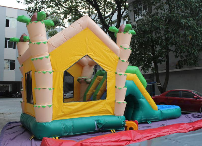ФОТО yard commercial use inflatable bouncers 0.55mm pvc bounce house kids jumping castle