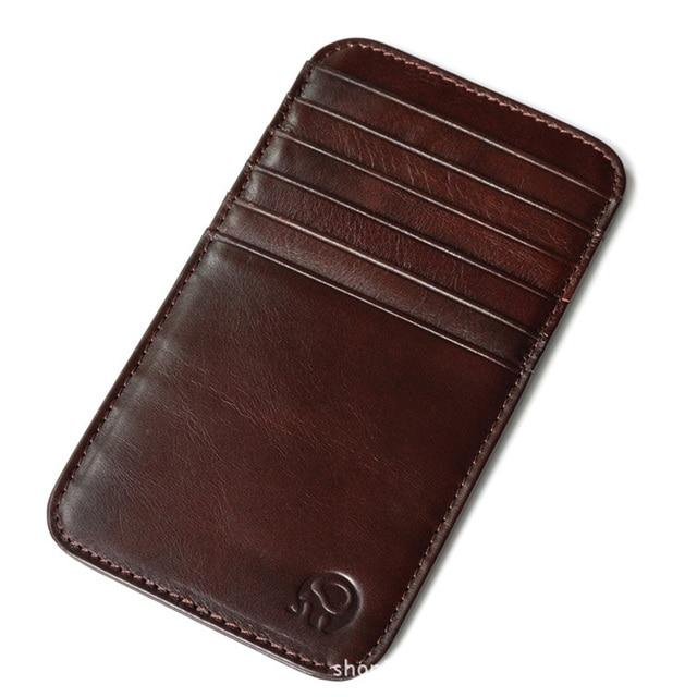 genuine leather credit card holder vintage 12 card slots men cardholder wallet for cards organizer case - Leather Credit Card Holder