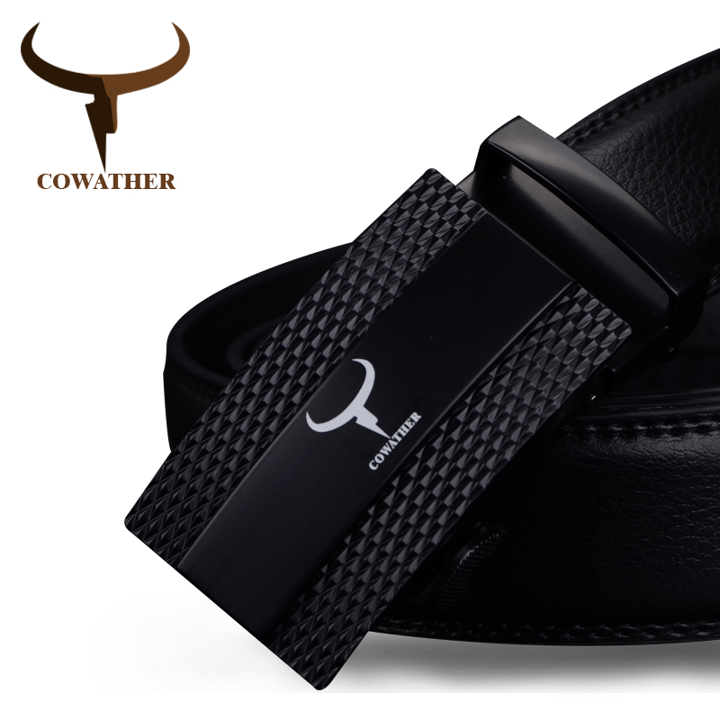 COWATHER 100% Cow Genuine Leather Belts For Men 2019 Top Quality Automatic Alloy Buckle Male Strap Casual Design Original Brand