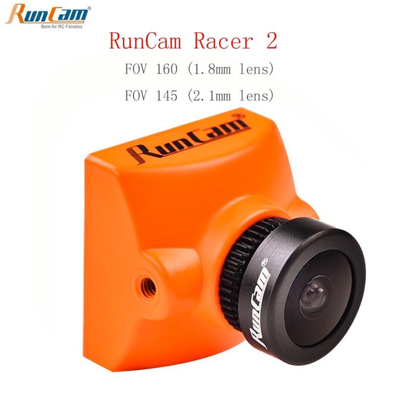 Caméra Runcam Racer 2 FPV Camare 700TVL 1.8mm 2.1mm OSD Super WDR 4:3 écran large PAL/NTSC commutable pour Drone de course FPV