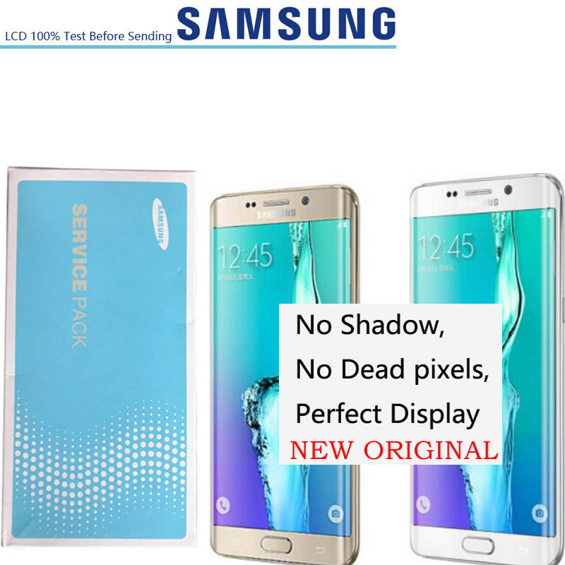 2560 1440 5 7 Original Amoled LCD Display Touch Screen For Samsung S6 EDGE Plus G928