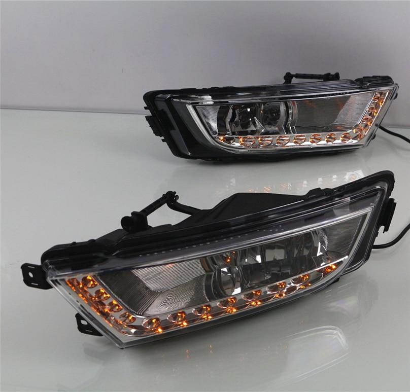 Black, Yellow 1 Pair 6W 6000K Waterproof Xenon White Thin Cob DRL LED Daytime Running Light for Car Cacys-Store