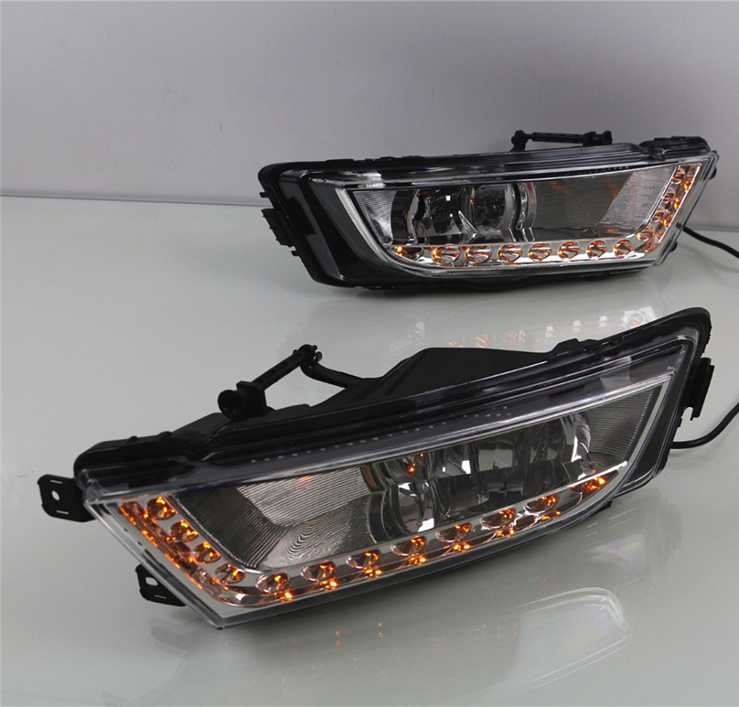 Car Flashing For Skoda Octavia A7 MK3 2014 2015 2016 LED DRL Daytime Running Lights Daylight Waterproof Signal car Styling light-in Car Light Assembly from Automobiles & Motorcycles    1