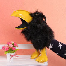Plush crow toy Action & Toy Figures Hand puppet cute plush doll Props educational toys