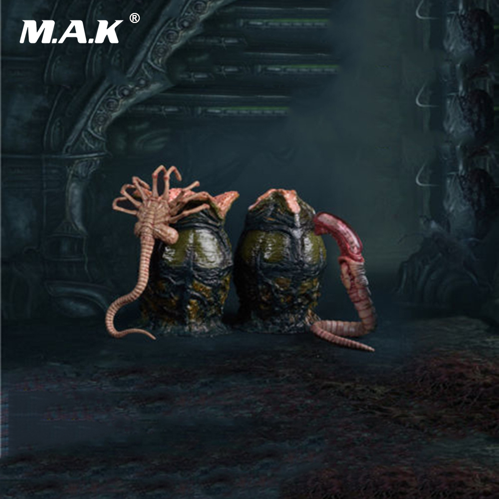 1/6 FG044-A Xenomorph Egg Facehugger Chestburster Set Models for 12 inches Action Figures Scene Accessories 1 6 scale vs046 female action figures blue long coat and black dress set models for 12 inches figures accessories