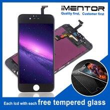 10 adet AAA iphone 6 için pantalla lcd ekran dokunmatik ekran meclisi ücretsiz temperli cam 10 adet