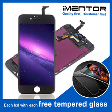 10pcs AAA pantalla for iphone 6 lcd display touch screen assembly Free Tempered Glass 10pcs