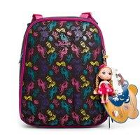 Delune Marka Çocuklar Yeni Ortopedik Çocuk okul çantası s Sınıf 1-3 öğrenci sırt çantası 5-8 Yıl Kızlar 3D Karikatür su geçirmez okul çantası