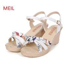 купить Women Summer Shoes Flat Wedges Sandals High Heels Platform Shoes for Women Wedge Ladies Sandals Sandalias Plataforma Sandalia онлайн