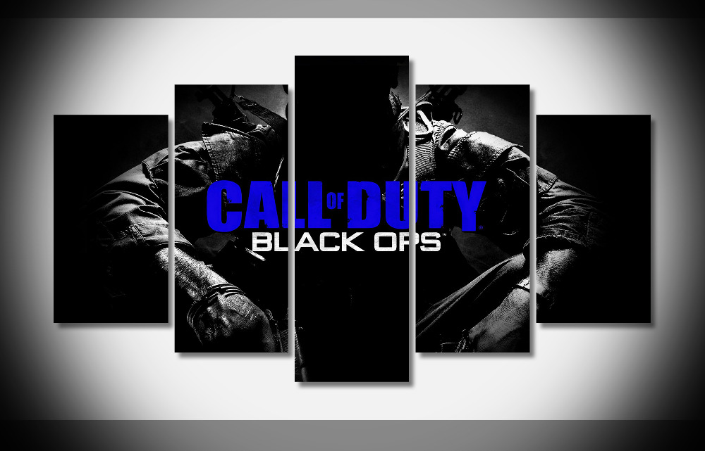 7242 call of duty black ops Poster wood Framed Gallery wrap art print home wall decor Gift wall picture Already to hung digital