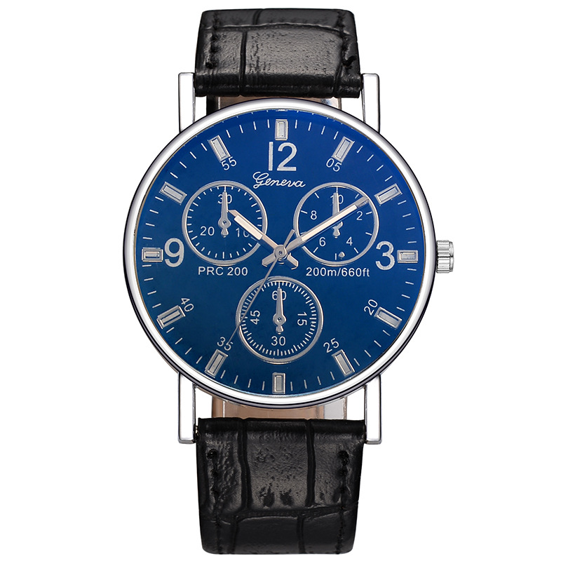 Mannen Business Style 3-eye horloge 2018 Fashion Casual Heren Lederen - Dameshorloges - Foto 1