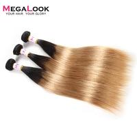 Ombre Hair Bundles T1B/27 Honey Blonde Peruvian Straight Remy Hair Weave Two Tone 1/3 Bundles Deals Human Hair Extension