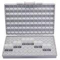 AideTek SMD для хранения SMT резисторный конденсатор для электроники Чехлы и органайзеры прозрачный ящик для инструментов коробка пластиковая ко...