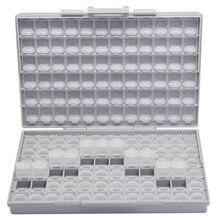 علب التخزين الإلكترونية AideTek SMD مزودة بمكثف مقاوم SMT ومنظم صندوق تخزين شفاف من البلاستيك