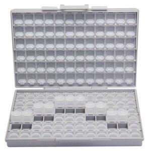 Image 1 - علب التخزين الإلكترونية AideTek SMD مزودة بمكثف مقاوم SMT ومنظم صندوق تخزين شفاف من البلاستيك