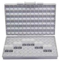 AideTek SMD de resistencia SMT condensador electrónica de los casos y los organizadores transparente caja de almacenamiento de caja de plástico BOXALL