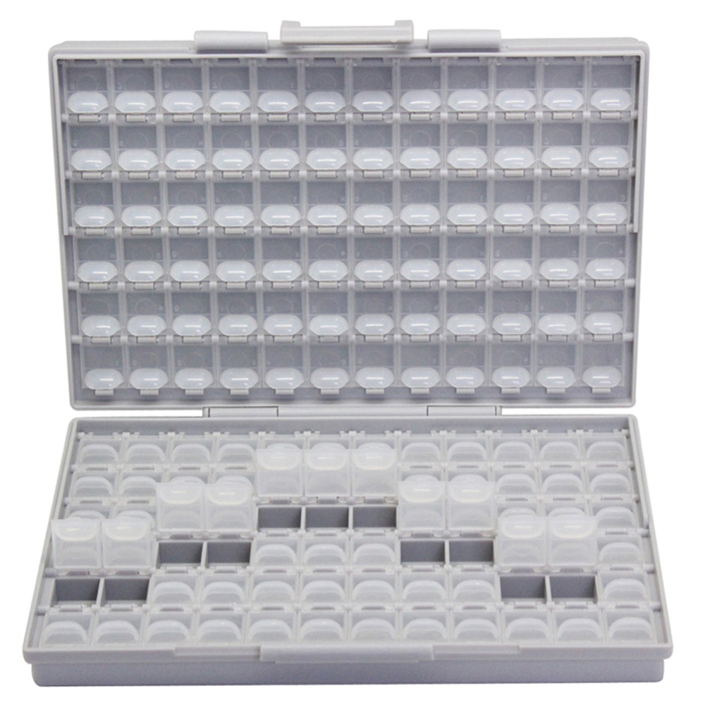 AideTek SMD storage SMT resistor capacitor Electronics Storage Cases & Organizers transparent toolbox storage box plastic BOXALL