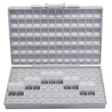 AideTek SMD storage SMT rezystor kondensator elektronika pudełka do przechowywania i organizery przezroczysty schowek na skrzynki plastikowe pudełko tanie tanio Z tworzywa sztucznego BOX-ALL-144 24*15*5