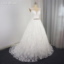I DUI Bridal Sleeveless Wedding Dress Layer Bridal Gown