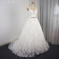 Tay Wedding Dress Ren Lớp Ren Up Ngọc Trai Đính Cườm Pha Lê Belt 2017 Cộng Với Kích Thước Bridal Alibaba Bridal Gown