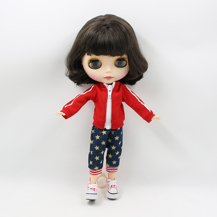 Neo Blythe Doll with Brown Hair, White Skin, Matte Face & Jointed Body 4
