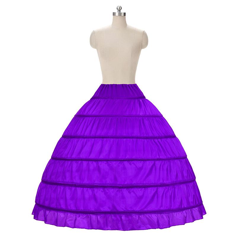 2018 HOT koop 6 Hoop Petticoat Onderrok Voor Baljurk Trouwjurk - Bruiloft accessoires - Foto 3