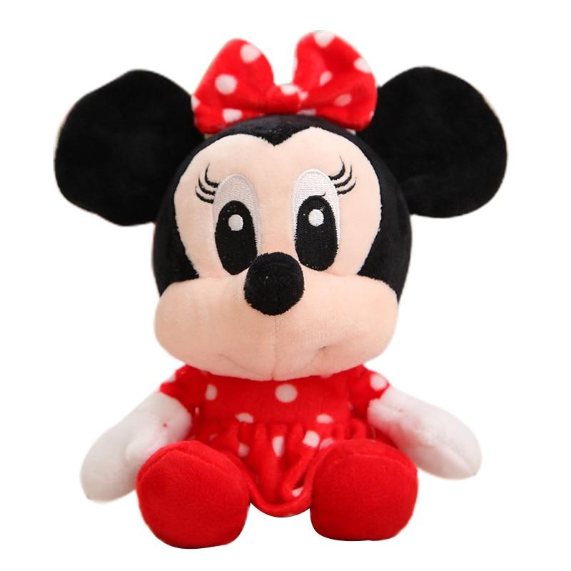 Дисней мягкие животные Плюшевые Микки Маус Минни Винни Пух Кукла Лило и чехол для телефона поросенок Стич брелок Подарочный на день рождение малыш девочка игрушка - Цвет: Minnie